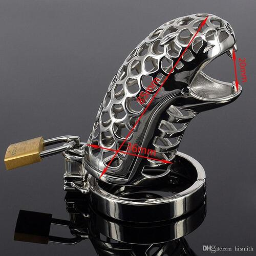 snake-shaped-male-chastity-device-cock-cage